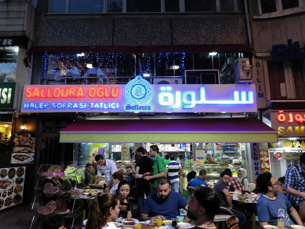 Salloura, a 150-year-old Syrian dessert institution opened shop in Istanbul in 2014 after war consumed Aleppo. (Photo by Dalia Mortada)