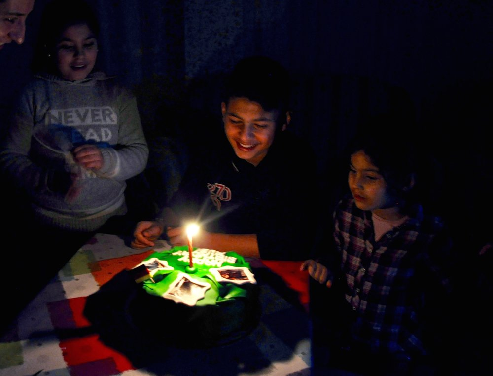 The Sheikho kids celebrate Rubi's 13th birthday. (Photo by Lauren Bohn)