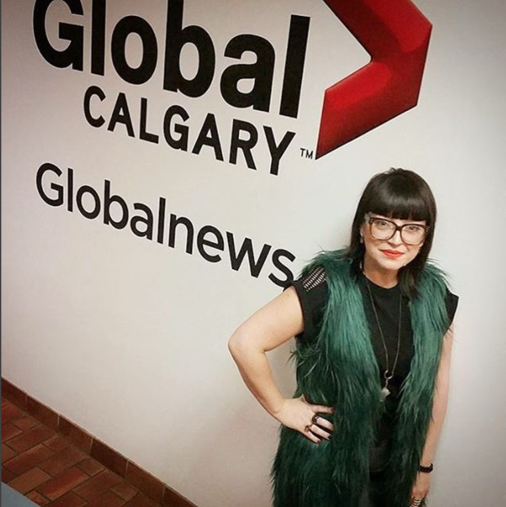 Honoured Aldona B is wearing some of our pieces on Global