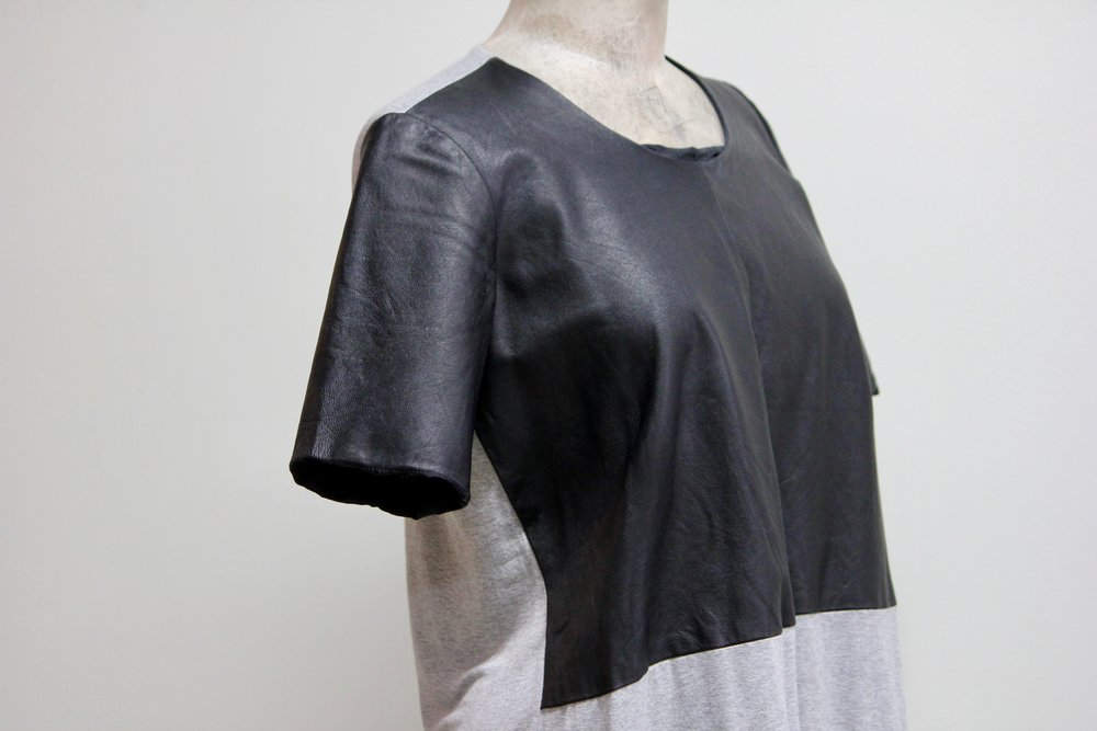 Mason Leather Front Tee