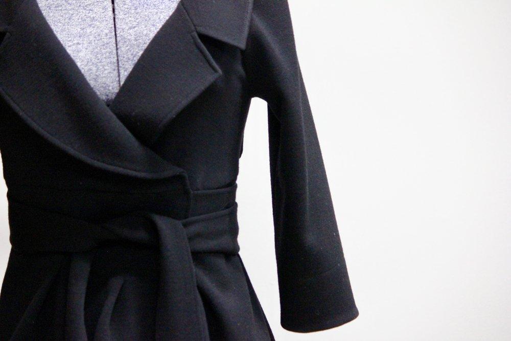 Diane Von Furstenberg Wool Wrap Coat