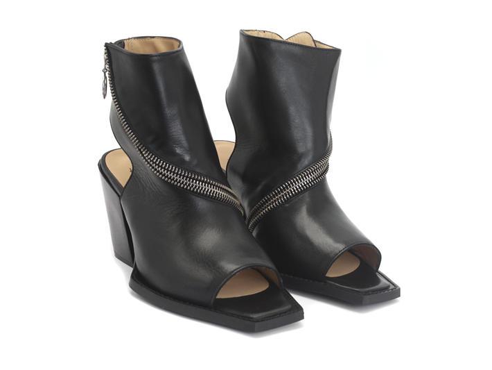 John Fleuvog Zip Up Peeptoe Boots