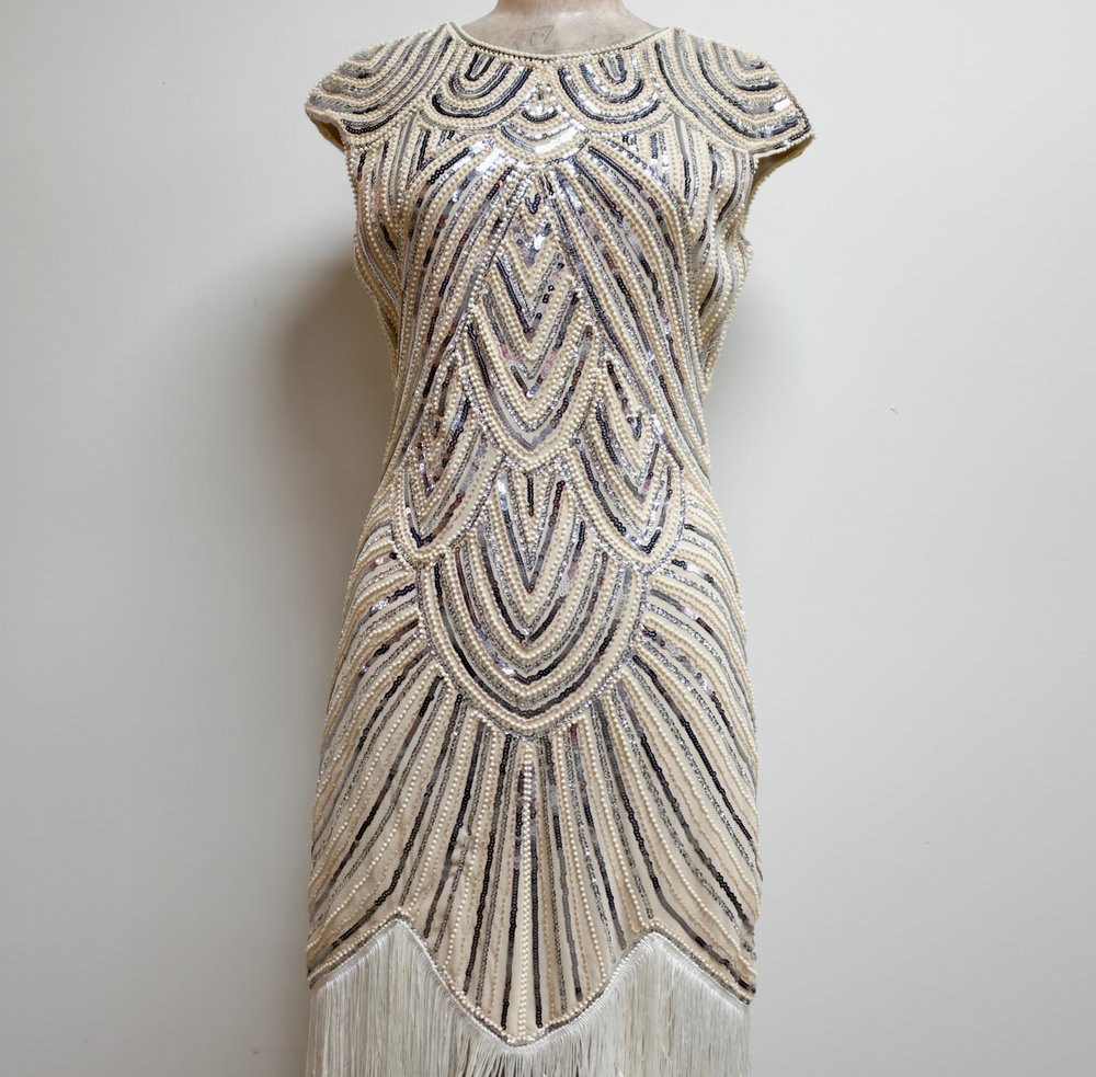 Vintage Sequined + Beaded Dress