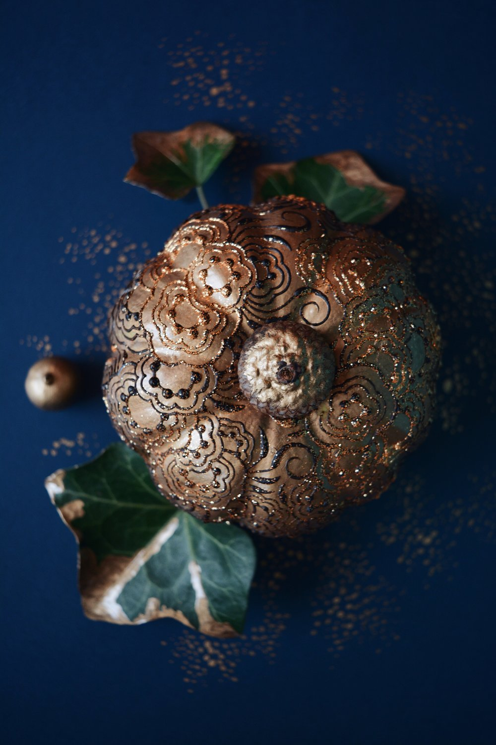 Faux Decor Pumpkin |  Natural Henna
