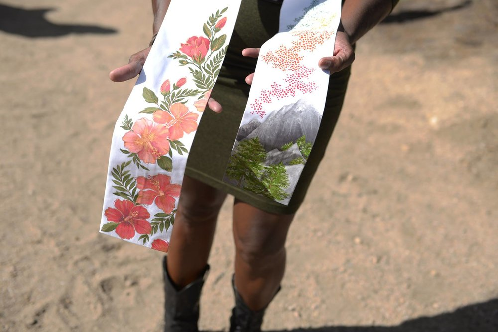 Wedding Stole |  Hand painted