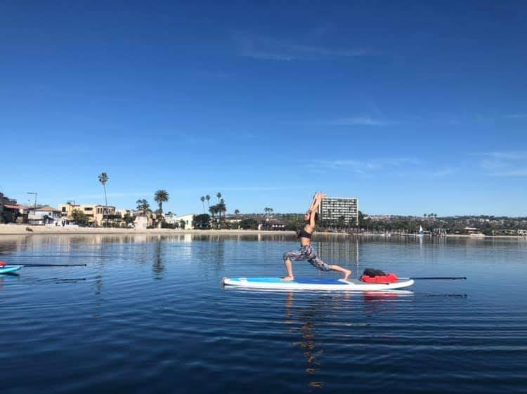 SUP Yoga on Mission Bay with SunChaser SUP