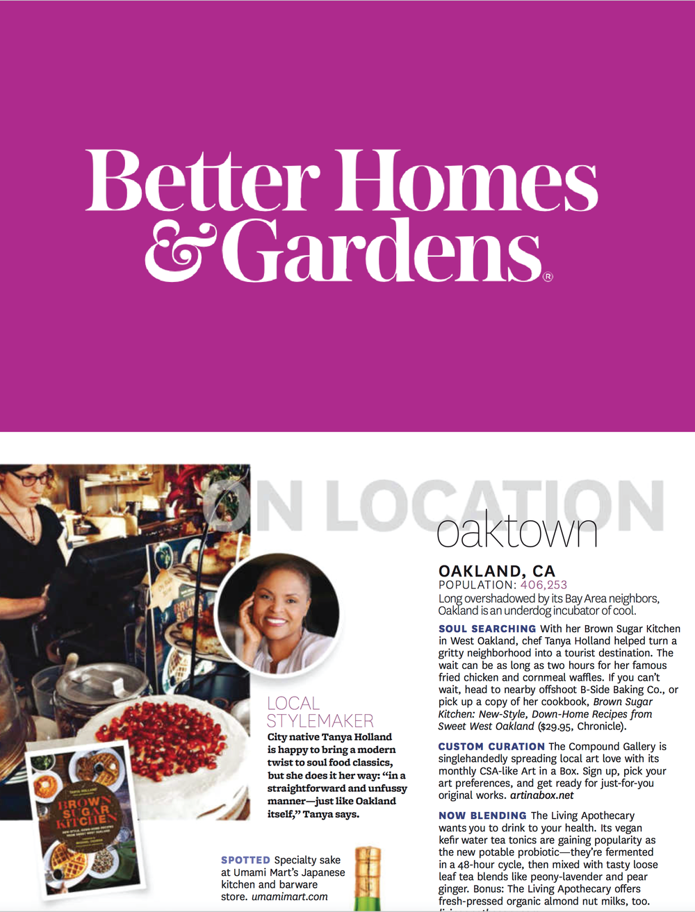 Better Homes & Gardens, On Location Local Stylemaker