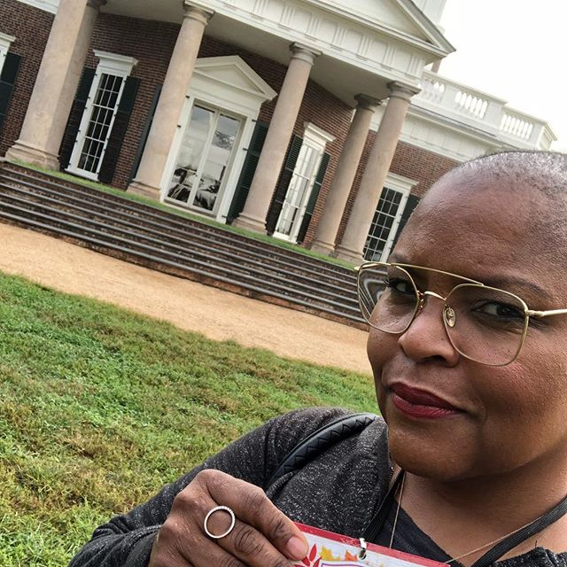 Hello @tjmonticello good to be back in my college @uva town @charlottesvilleva and learn more about Chef James Hemings...whether we like it or not, it's our history and important to know. #cheflife