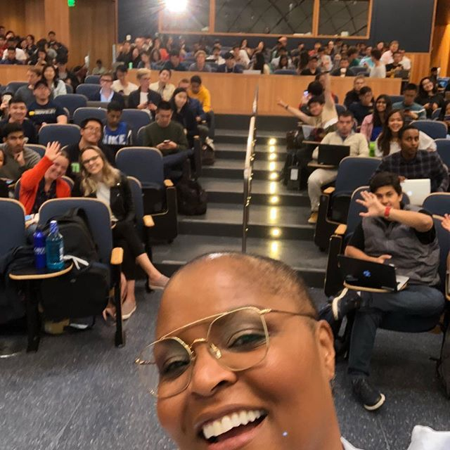 Last night telling my story to this super bright group of aspiring #entrepreneur students @ucberkeleyofficial #cheflife #businesswoman #topchef @bravotopchef