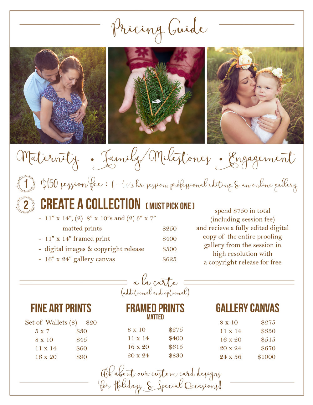 Family, Maternity, Engagement Price List.jpg