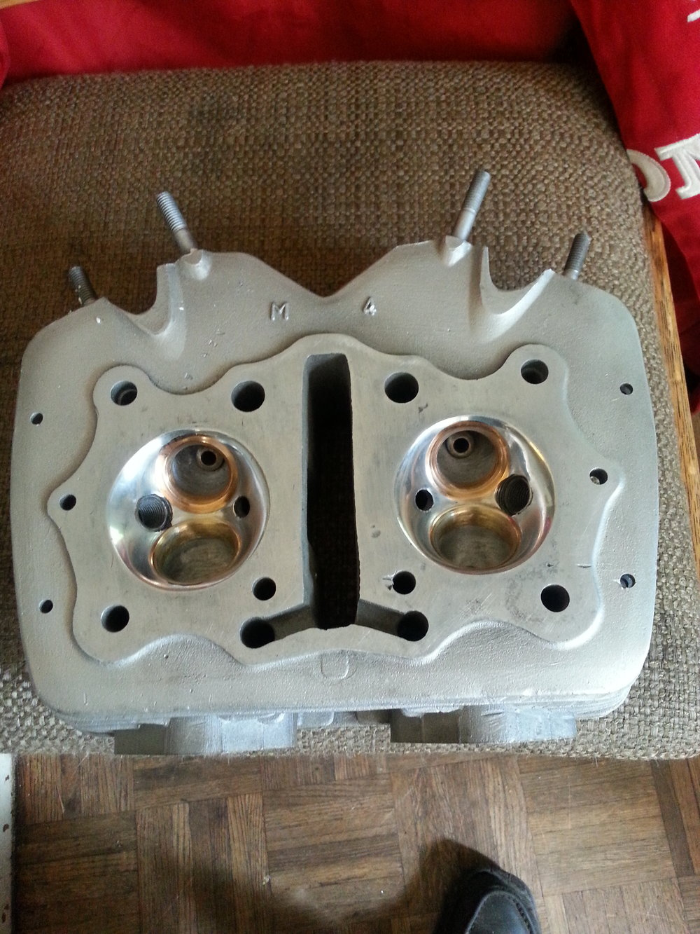CB350 head ready for fresh valves