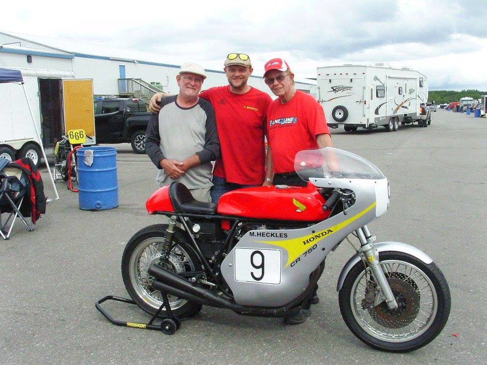 With the team, and Giannini at NJMP