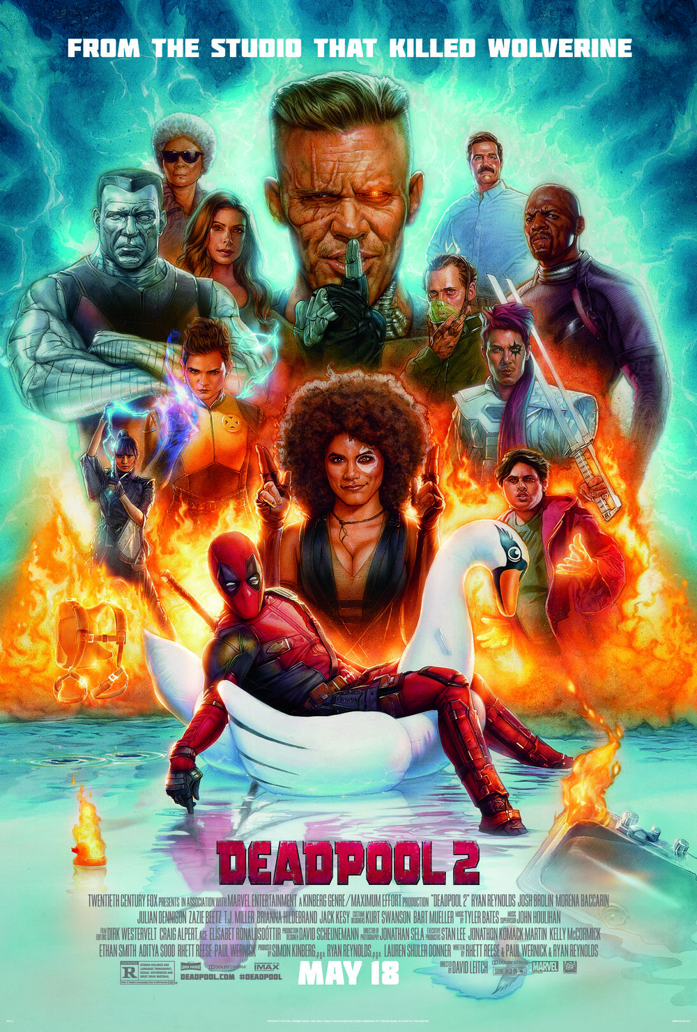 Deadpool 2 - Foul-mouthed mutant mercenary Wade Wilson (AKA. Deadpool), brings together a team of fellow mutant rogues to protect a young boy of supernatural abilities from the brutal, time-traveling mutant, Cable.