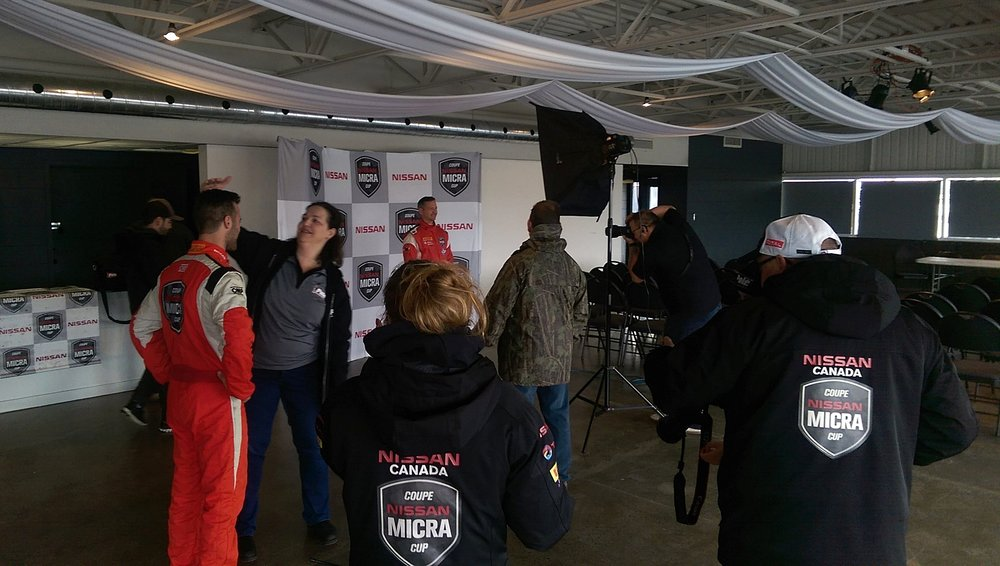 Photoshoot time! Plenty of support from Nissan Canada in every area of the Micra Cup. Definitely a big reason I made the trip to Canada.