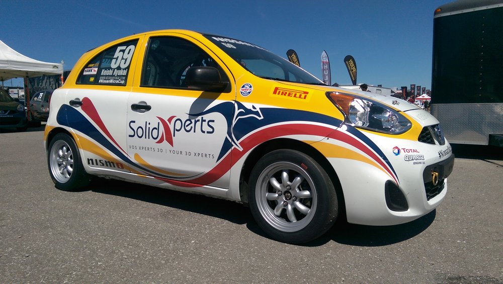 Keishi Ayukai #59 SolidXperts Unicorn Motors Nissan Micra Cup Car