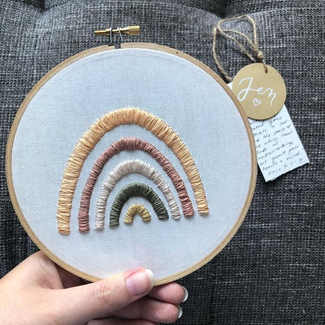 Hello friends! I have been MIA on holidays 🧚🏼♀️ How was your Christmas and New Years? I have picked up a new hobby and can't wait to show you! Hand embroidery 🌟 Here is a piece I did a while back - a rainbow with a promise attached. I'll share more embroidery pieces in the coming days 😉
