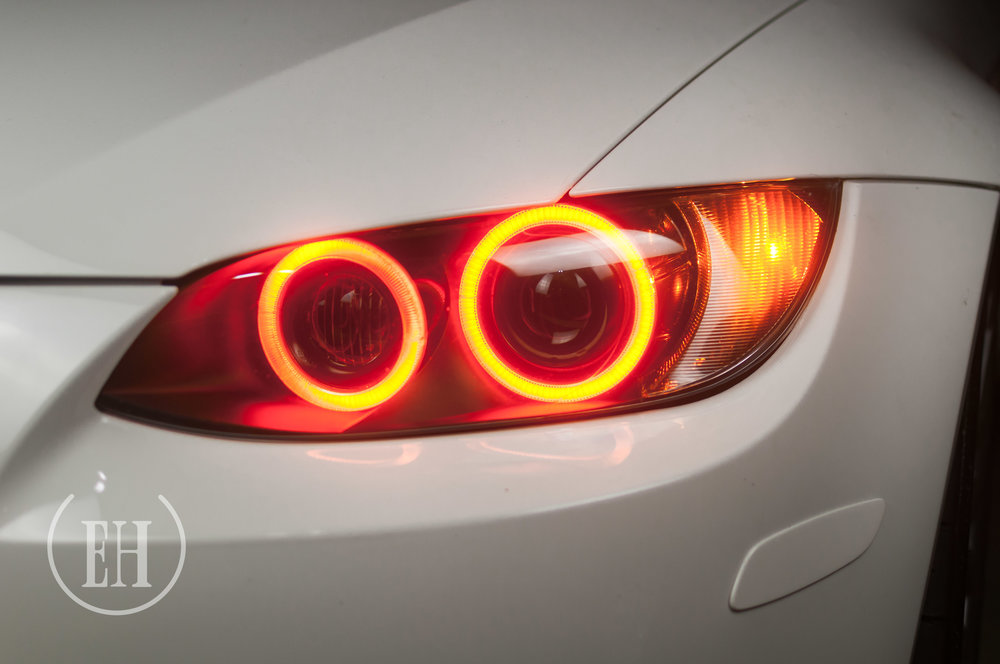 Bmw M3 E92 Alpine White Evil Headlights Custom Retrofitting