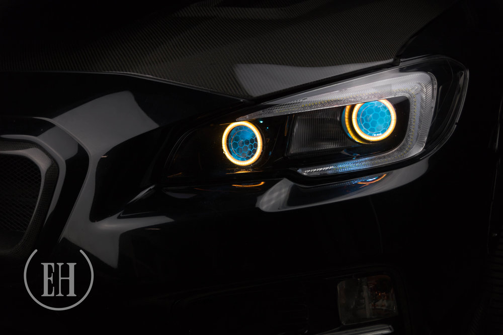 Subaru Wrx 15 Evil Headlights Custom Retrofitting Service In