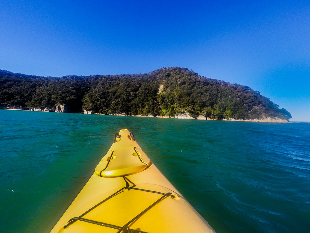 Kayaking in Abel Tasman National Park New Zealand