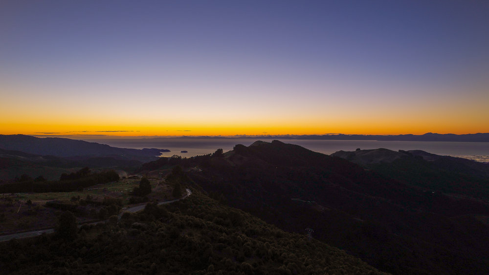 Sunrise with the drone in Abel Tasman National Park