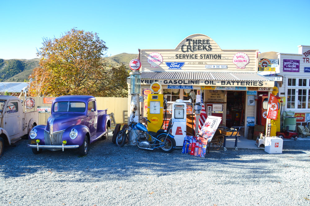 Stop at the famous Route 66 station between Queenstown and Wanaka