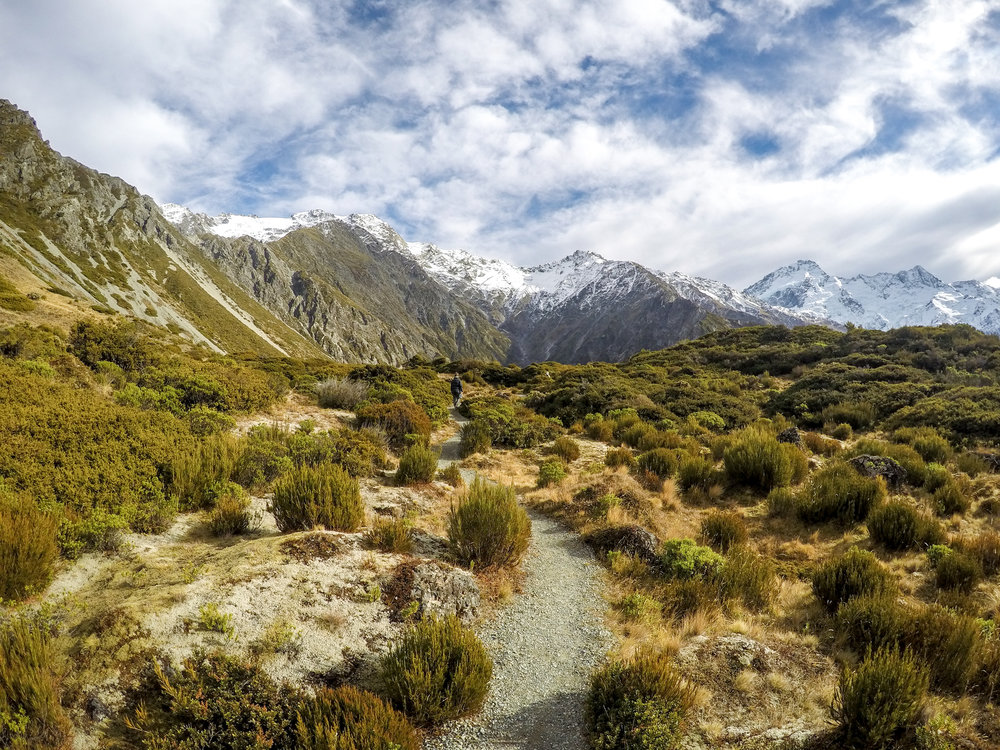 Really hard Red Tarn Track in Mount Cook