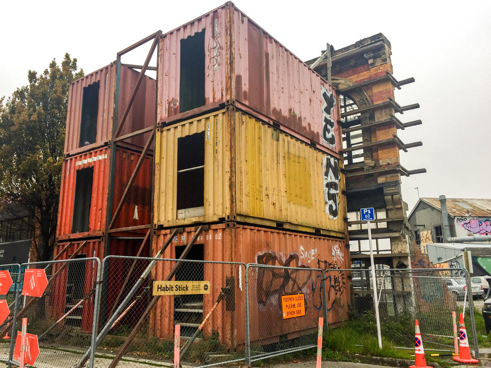 Containers art in Christchurch destroyed by earthquake