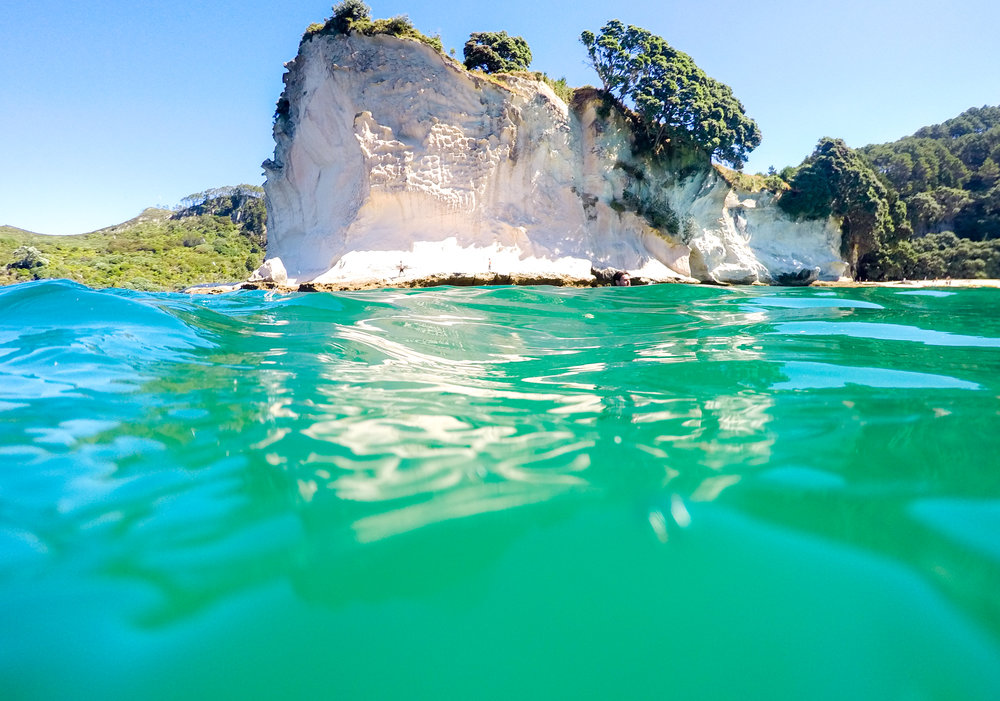 Snorkelling at Stingray Bay in Cathedral Cove Coromandel