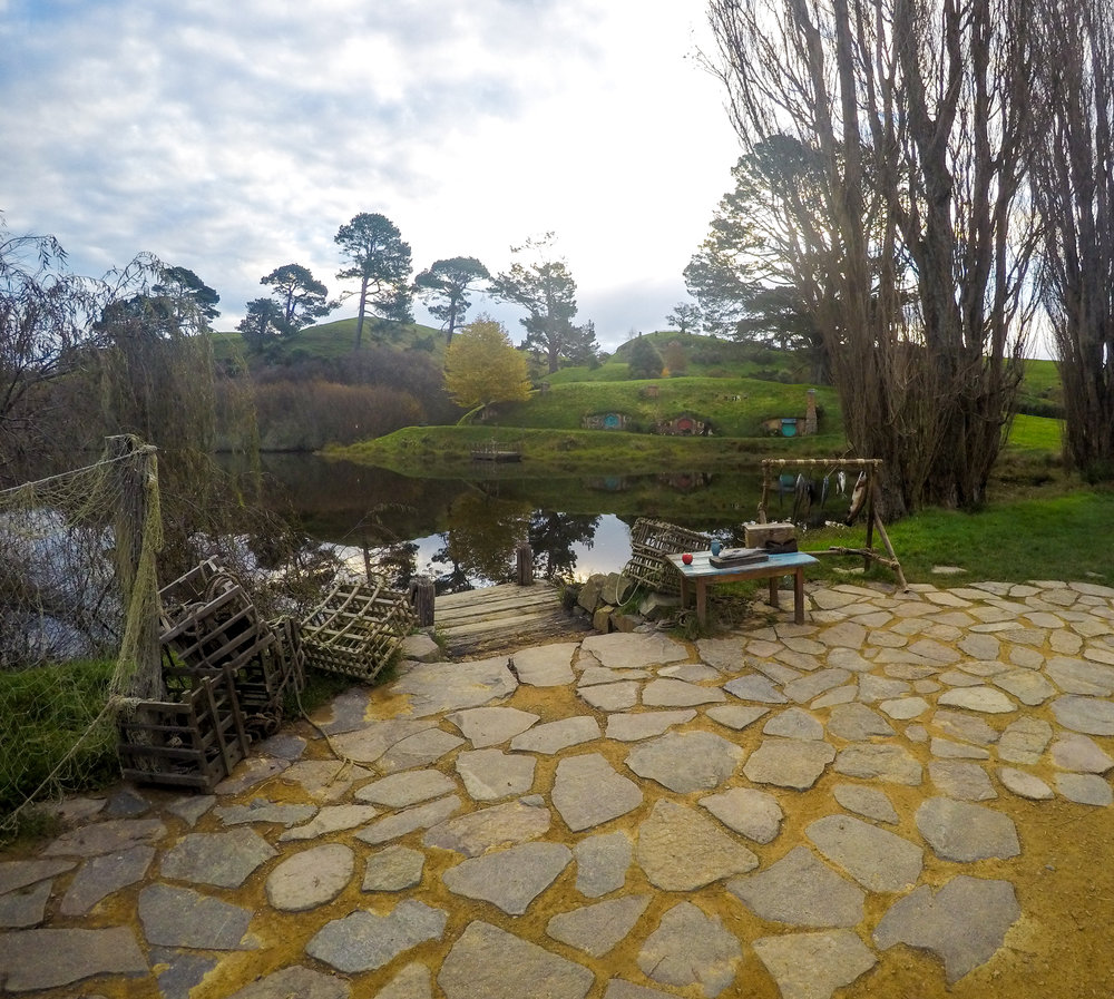 Hobbiton village in New Zealand from The Lord Of The Ring