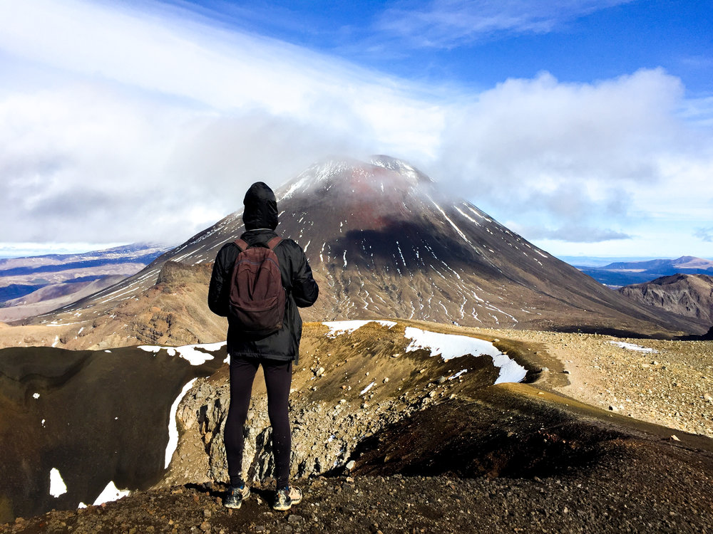Mount Doom of The Lord Of The Rings in Tongariro Alpine Crossing New Zealand