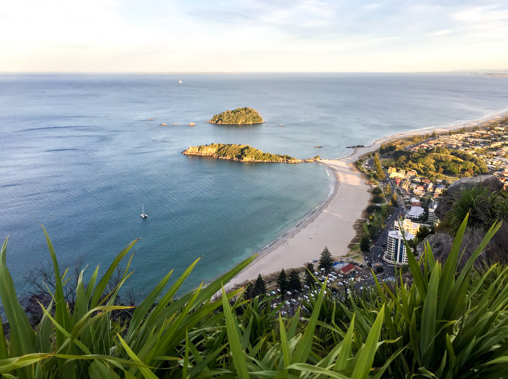 Sunset from Mount Maunganui in New Zealand