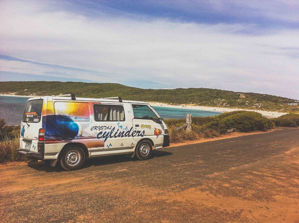 Travel in a van in Australia