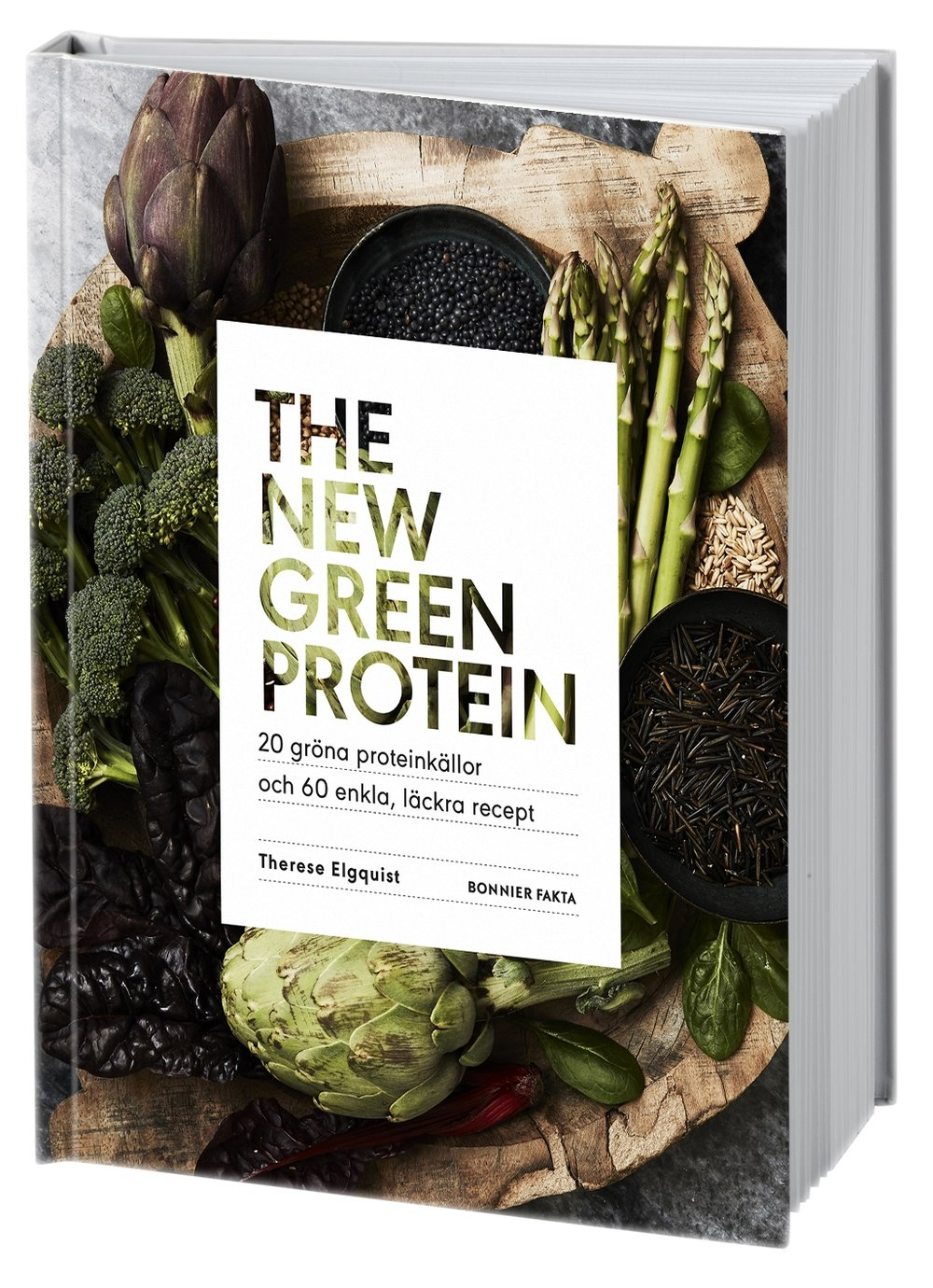 "The new green protein - (Bonnier Fakta)""Between this cover you find everything you'd want to know about plant based protein and what it's all about. But also about good carbs and healthy fats. About minerals and vitamins. Where you find them, why your body really wants and needs them and how to make them more available. Behind this cover you'll also find tricks on how to boost your meals and how to nourish your body with delicious plant based food!!Yet another book filled with recipes on my plant based food philosophy. This time you find food for every meal of the day; quick smoothies and warming porridges for both weekday and weekend breakfasts, light but also hearty lunches and dinners, snacks on the go and smart desserts! Food that are really a hug to your body, mind and soul.My hope is that this book will be a handbook for you who want to explore the plant based world even more - or for the first time, feeling comfortable knowing you can get all the nutrients and satisfaction your body needs from a plant based diet - no matter if you eat plant based food every day or some days""With love,Thess"