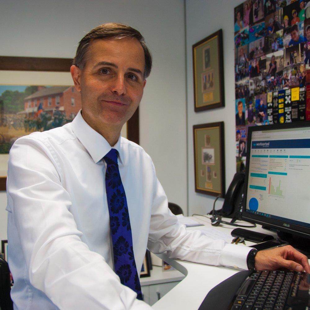 Angus Hordern in his office in Sydney.