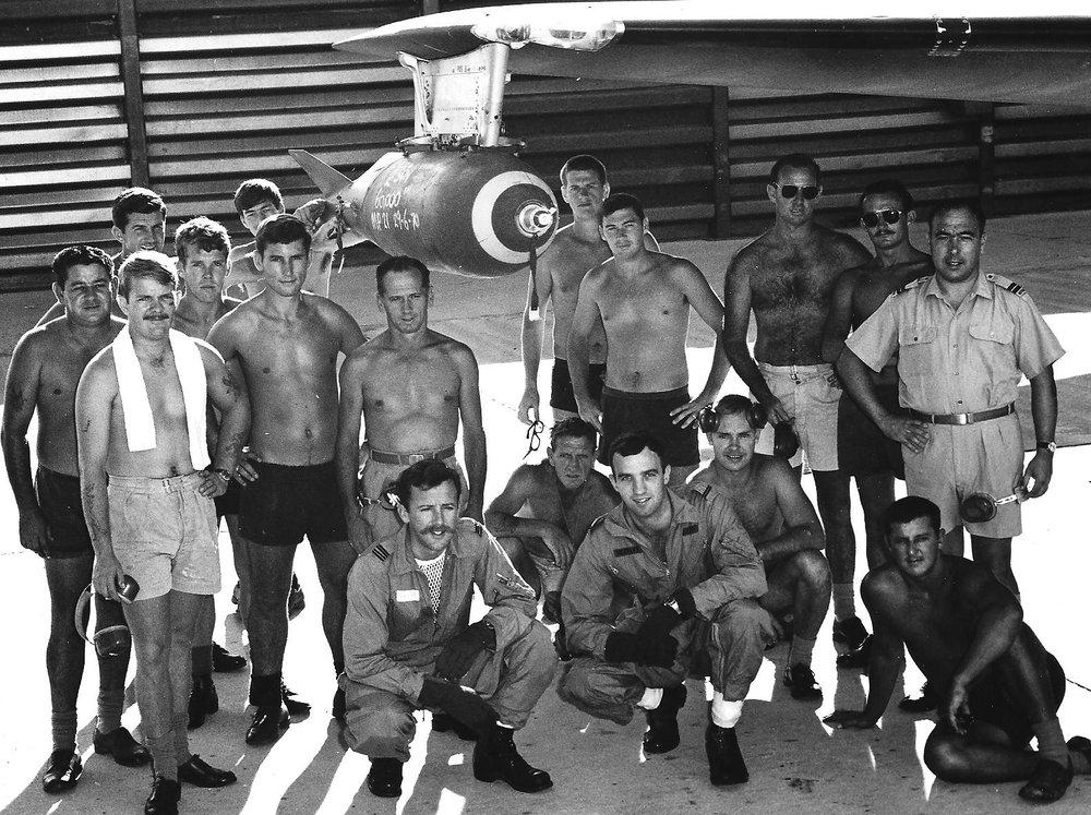 60,000th bomb (M117) 2 Sqn, Vietnam, June 1970 001.jpg