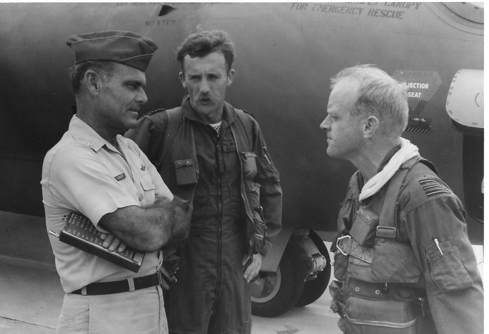 Col. Walter C. Turnier, OC 35th TFW, Arthur Barnes & me, Vietnam.jpg