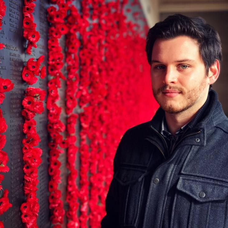 Alex Lloyd at the Australian War Memorial in Canberra.