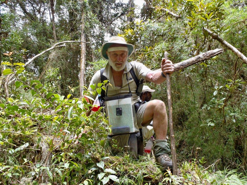 David Buckwalter exploring New Guinea.