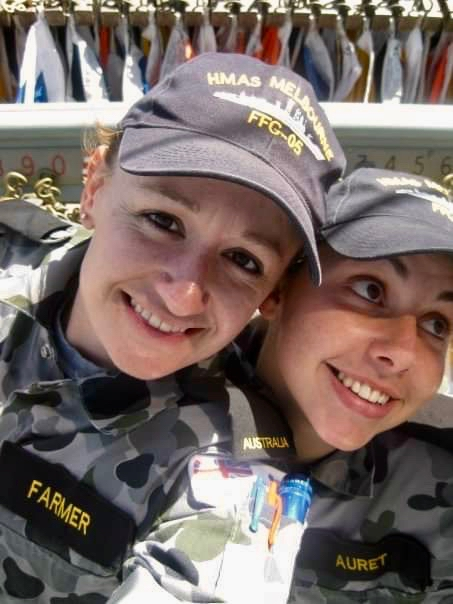 PIC 3      2009 – onboard HMAS MELBOURNE – first day at sea on Melbourne – pic is taken on the flag deck during OOWMANS (Officer of the Watch Manoeuvres ).jpg