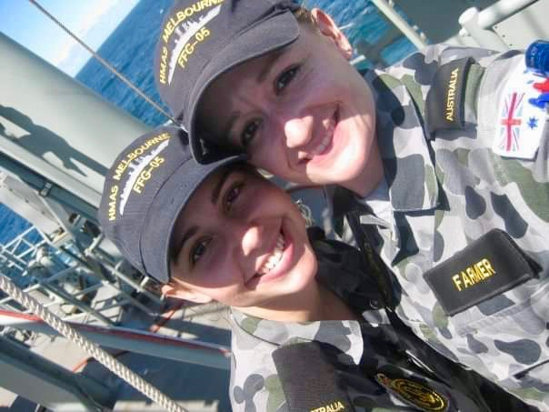 PIC 4      2009 – onboard HMAS MELBOURNE – first day at sea on Melbourne – pic is taken on the flag deck during OOWMANS (Officer of the Watch Manoeuvres ).jpg