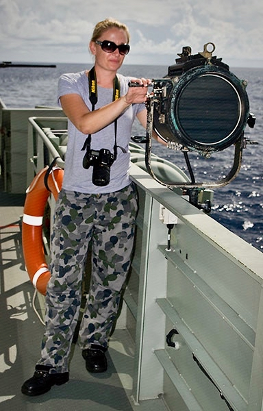 PIC 6      2011 – Ardent 1 – first Patrol Boat Crew I served on – Conducting Border Protection – on a Ten Inch light.jpg