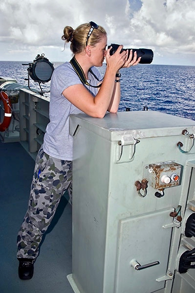 PIC 7      2011 – Ardent 1 – first Patrol Boat Crew I served on – Conducting Border Protection – taking photos of an Illegal Fishing Vessel.jpg