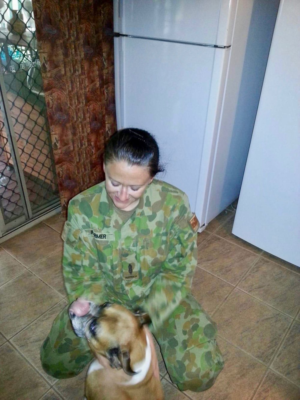 PIC 20    2013 – AUSTRALIA – Day I landed back in Australia from overseas, my M&D took me home (Narangba, Brisbane) to get changed before I had to catch a connecting flight to Cairns (home) and that's my dog, Kira.jpg