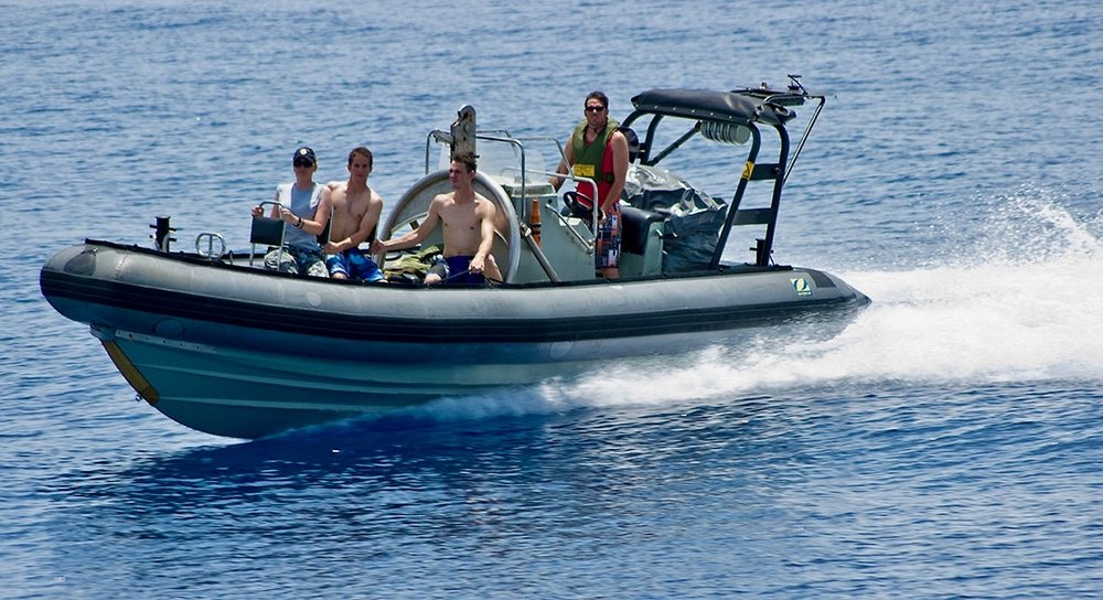 PIC 22    2014 – Ardent 4 – Patrol Boat crew – on Border Protection – we were conducting a SWIMEX (swimming exercise) and they had me in the RHIB as a safety number.jpg