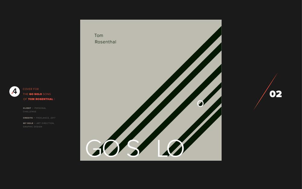 Go solo. Tom Rosenthal