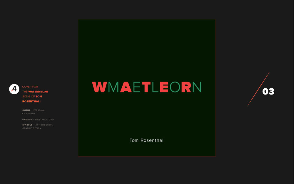 Watermelon. Tom Rosenthal