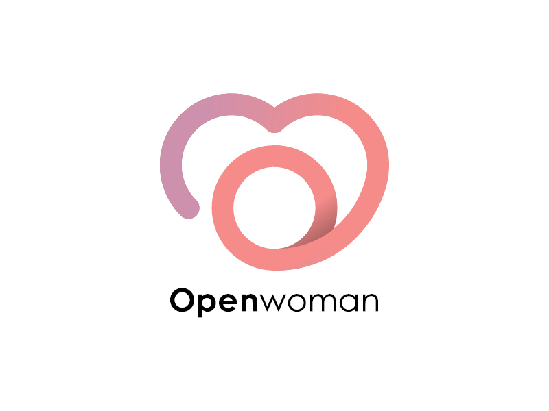 Open woman logotype