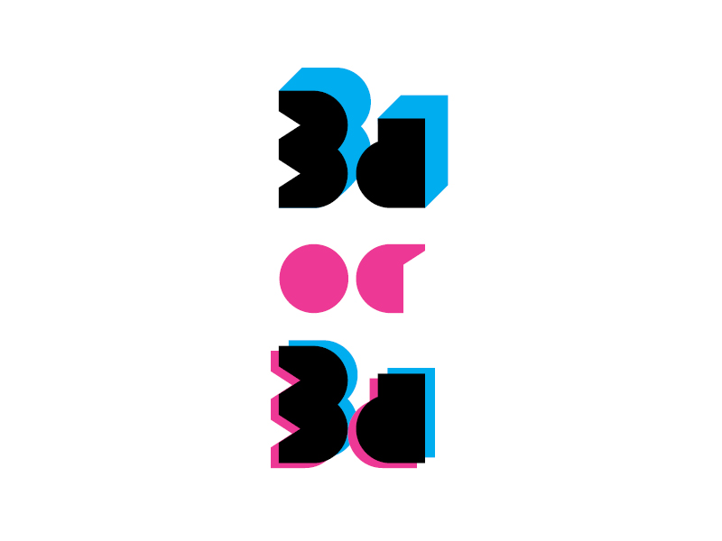 3d or 3d symbol