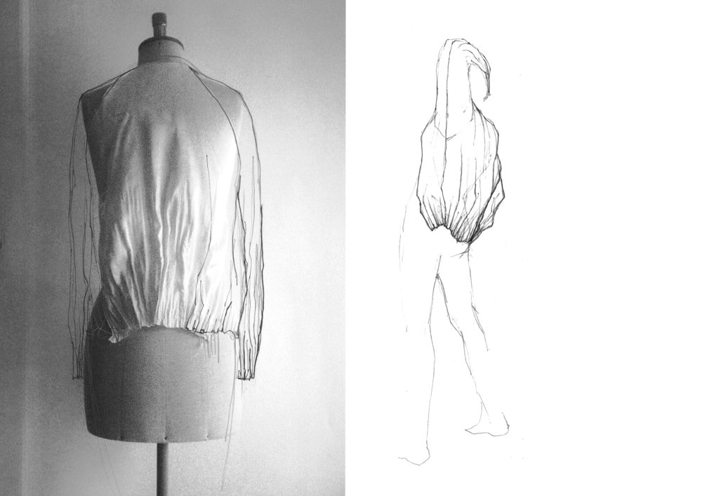 Shape by melting. Controlled melting gives the garments shape and flexible pleats. - 2010