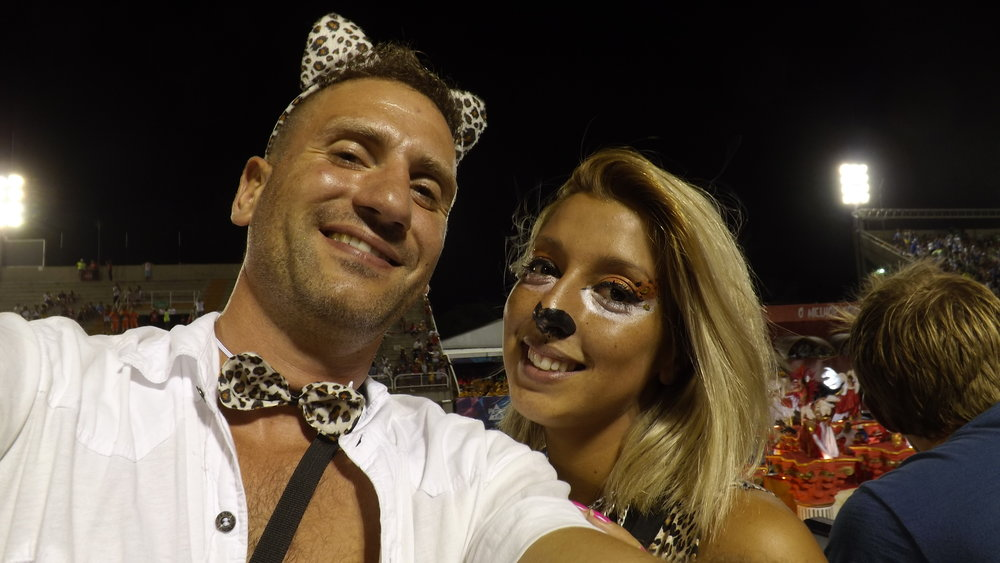 "Mario & Lucia - England & Argentina ""The service ILSVIP provided for us to enjoy the Rio Carnival for the first time surpassed all expectation.  Thank you so much, viva Brazil!"""